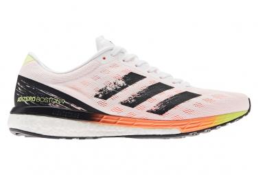 Chaussures de Running adidas running adizero Boston 9 Blanc / Orange