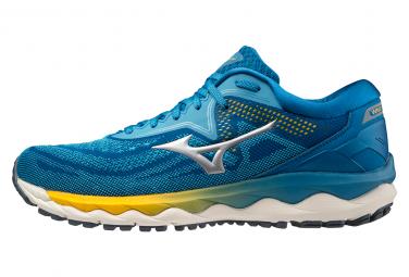 Zapatillas Running Mizuno Wave Sky 4 Azul Amarillo Hombre 46 1 2