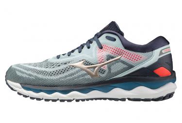 Chaussures de Running Mizuno Wave Sky 4 Bleu / Rouge