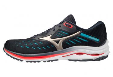 Chaussures de Running Mizuno Wave Rider 24 Bleu / Rouge