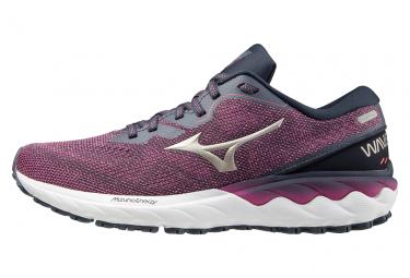 Chaussures de Running Femme Mizuno Wave Skyrise 2 Violet / Blanc