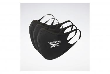 Masques de Protection Reebok Face Cover (Pack de 3) Noir