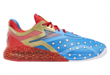 Chaussures de Cross Training Reebok Nano X Wonder Woman Bleu / Rouge