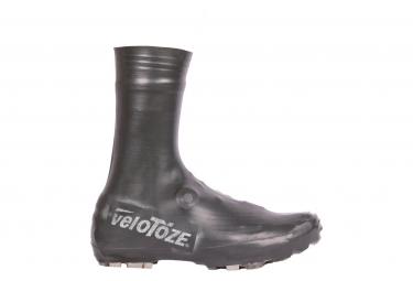 Couvre Chaussures Velotoze VTT Haut / Latex Super Strong Noir