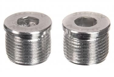 Neatt Attack V2 / Oxygen V2 Silber Pedalachsabdeckungen (x2)