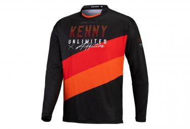 Maillot Manches longues Kenny Prolight Noir / Orange