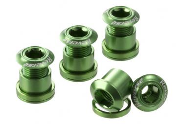 Reverse Chainring Bolt Set 7mm Green (x4)