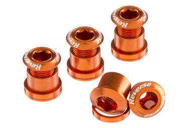 Reverse Chainring Bolt Set 7mm Orange (x4)