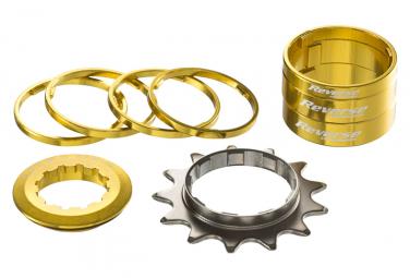 Reverse Single Speed Kit Ritzel 13T Gold