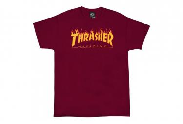 THRASHER, T-shirt flame logo, Cardinal red