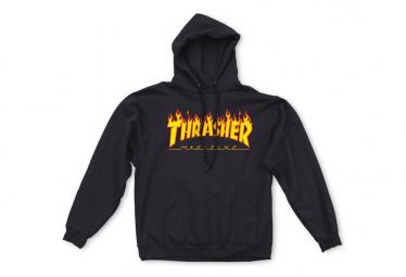 THRASHER, Sweat hood flame, Black