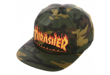 THRASHER, Cap flame snapback, Camo