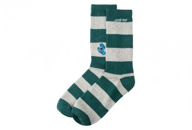 SANTA CRUZ, Screaming mini hand stripe sck, Evergreen/athletic heather