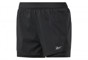 Pantalón corto Reebok Running Essentials 2 en 1 negro mujer