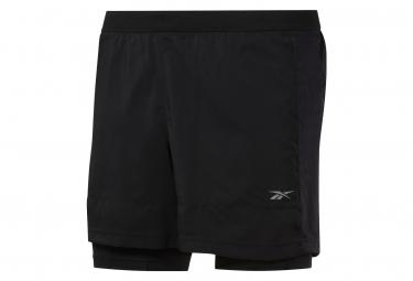 Reebok Running Essentials 2 In 1 Shorts Negros Hombre L