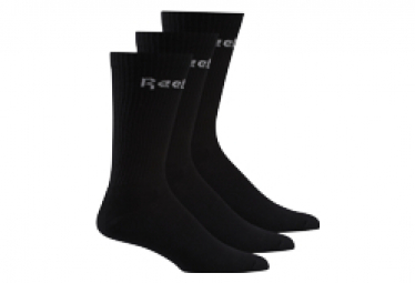 Reebok Active Core Mid Crew 3 Pares De Calcetines Negro Unisex L