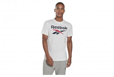 Camiseta Reebok Big Logo Blanco Azul Hombre L