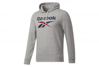 Reebok big logo sudadera con capucha gris para hombre xs