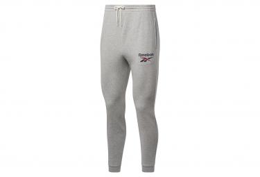 Pantalon de chandal reebok big logo gris para hombre m