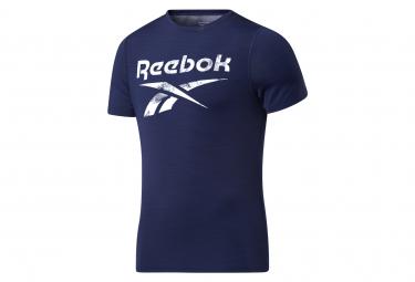 Reebok Workout Activchill Short Sleeve Jersey Azul Hombre S