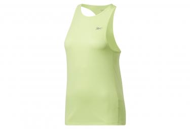 Camiseta sin mangas reebok running essentials amarillo mujer xs