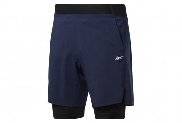 Pantalon Corto Reebok Epic 2 En 1 Azul Hombre S