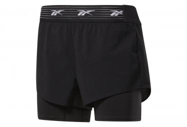 Pantalon Corto Reebok Training Epic 2 En 1 Negro Mujer M