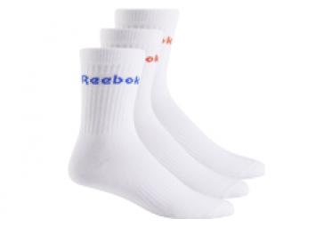 Reebok Active Core Mid Crew 3 Pares De Calcetines Blanco Unisex M