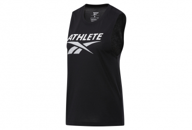 Reebok Athlete Camiseta Sin Mangas Mujer Negra S