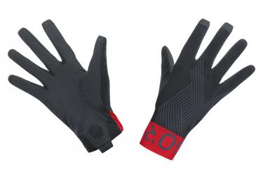 Paire de Gants Longs Gore Wear C7 Pro Noir/Rouge