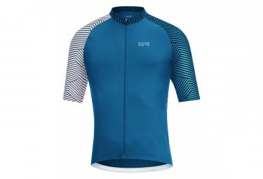 Camiseta Gore Wear C5 Azul   Blanco M