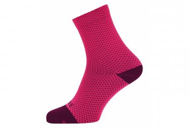 Calcetines Gore Wear C3 Dot Mid Rosa   Rojo 38 40