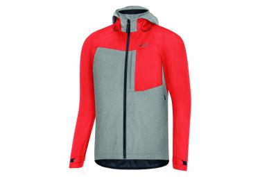 Chaqueta impermeable gore wear c5 gtx trail hd fireball rojo   gris xl