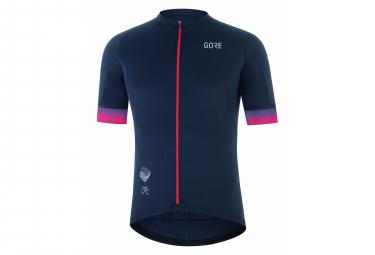 Maillot Manches Courtes Gore Wear Cancellara Bleu/Rouge