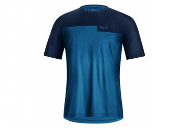 Maillot Manches Courtes Gore Wear Trail Bleu