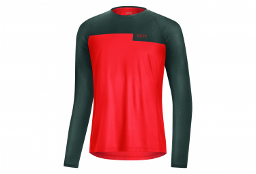 Gore Wear Trail Fireball Long Sleeve Jersey Red / Gray