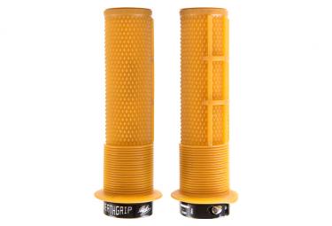 DMR DeathGrip Thin Grips with Flanges Orange Gum