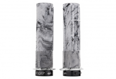 DMR DeathGrip Thin Grips with Flanges Snow Camo