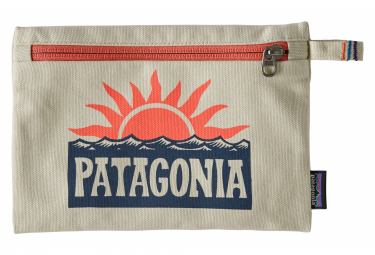 Patagonia Zippered Pouch Gray Unisex Orange