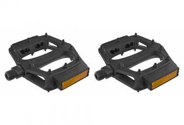 Paire de Pédales DMR V6 avec Réflecteurs Noir