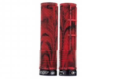 Puños DMR DeathGrip Flangeless Thin - red black