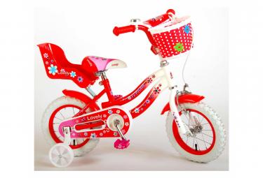 Image of Velo d enfant volare lovely filles 12 pouces rouge 95 assemble