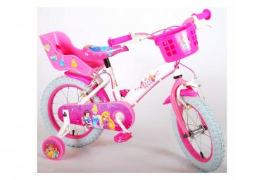 Vélo enfants Disney Princess - Filles - 14 pouces - Rose - deux freins à main