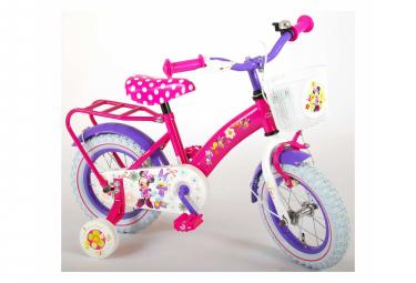 Image of Velo pour enfants disney minnie bow tique filles 12 pouces rose blanc 95 assemble