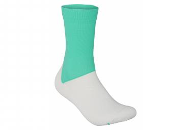 Calcetines Poc Essential Road Verde   Blanco 43 45