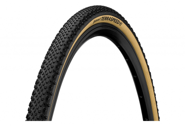Pneu Gravel Continental Terra Speed 700 mm Tubeless Ready Souple ProTection BlackChili Compound Flancs Cream E-Bike e25