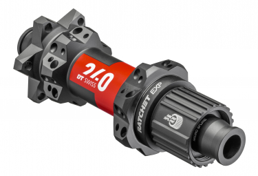 Moyeu Arrière DT Swiss 240 EXP Straight Pull 28 trous   Boost 12x148mm   6 Trous