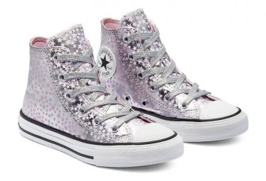 CONVERSE, Chuck taylor all star hi, Silver/pink glaze/white
