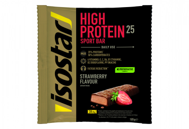 Barres Proteinées Isostar High Protein 25 Fraise 3x35gr