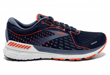 Zapatillas Brooks Adrenaline Gts 21 Azul   Naranja 44 1 2